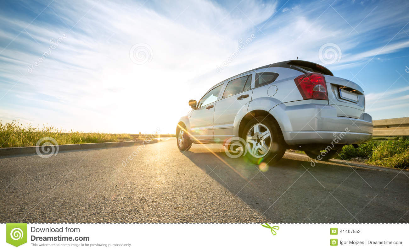 Download Car on road over sunny day stock photo. Image of speed - 41407552