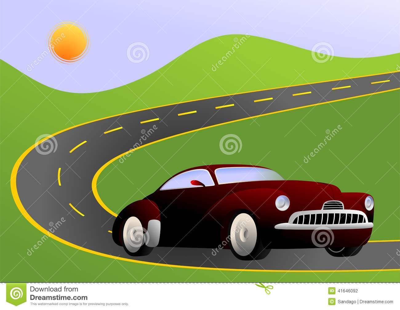 clipart car driving on road - photo #31