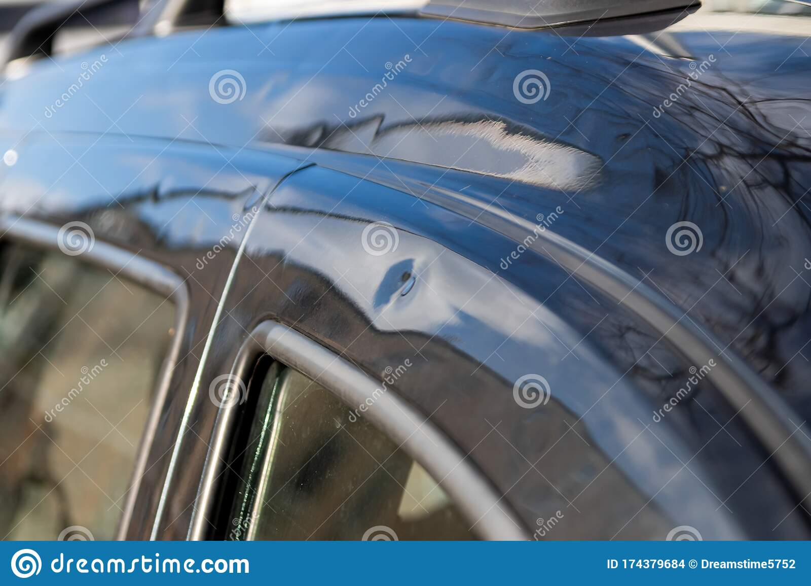 Car Roof With Many Hail Damage Dents Show The Forces Of Nature And The Importance Of Car Insurance And A Replacement Value Stock Photo Image Of Dashboard Automotive 174379684