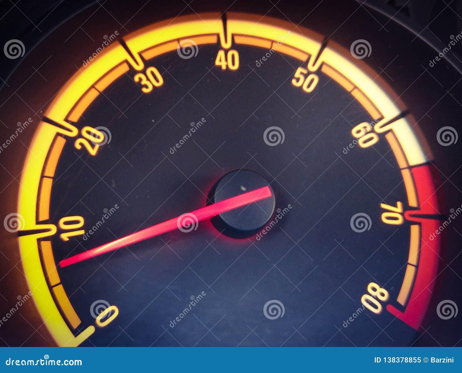 Car rpm indicator stock image  Image of engine, indicator