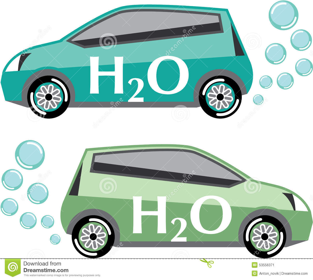 Car That Runs On Water Vector Stock Vector Image 53556371