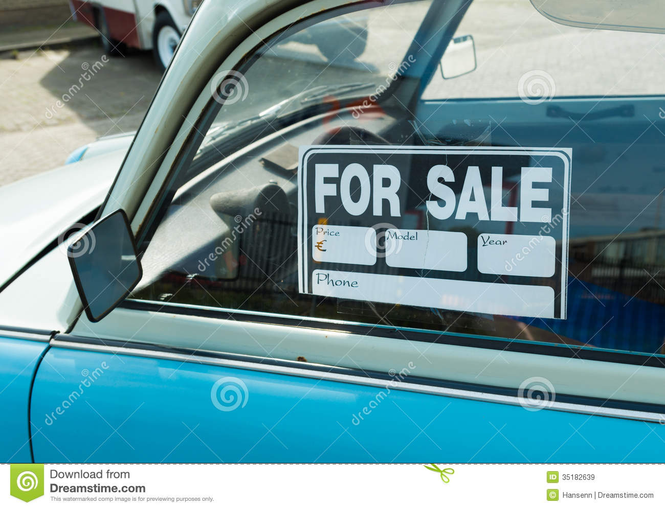Car for sale stock image Image of drive sell bank 35182639 – Free for Sale Signs for Cars