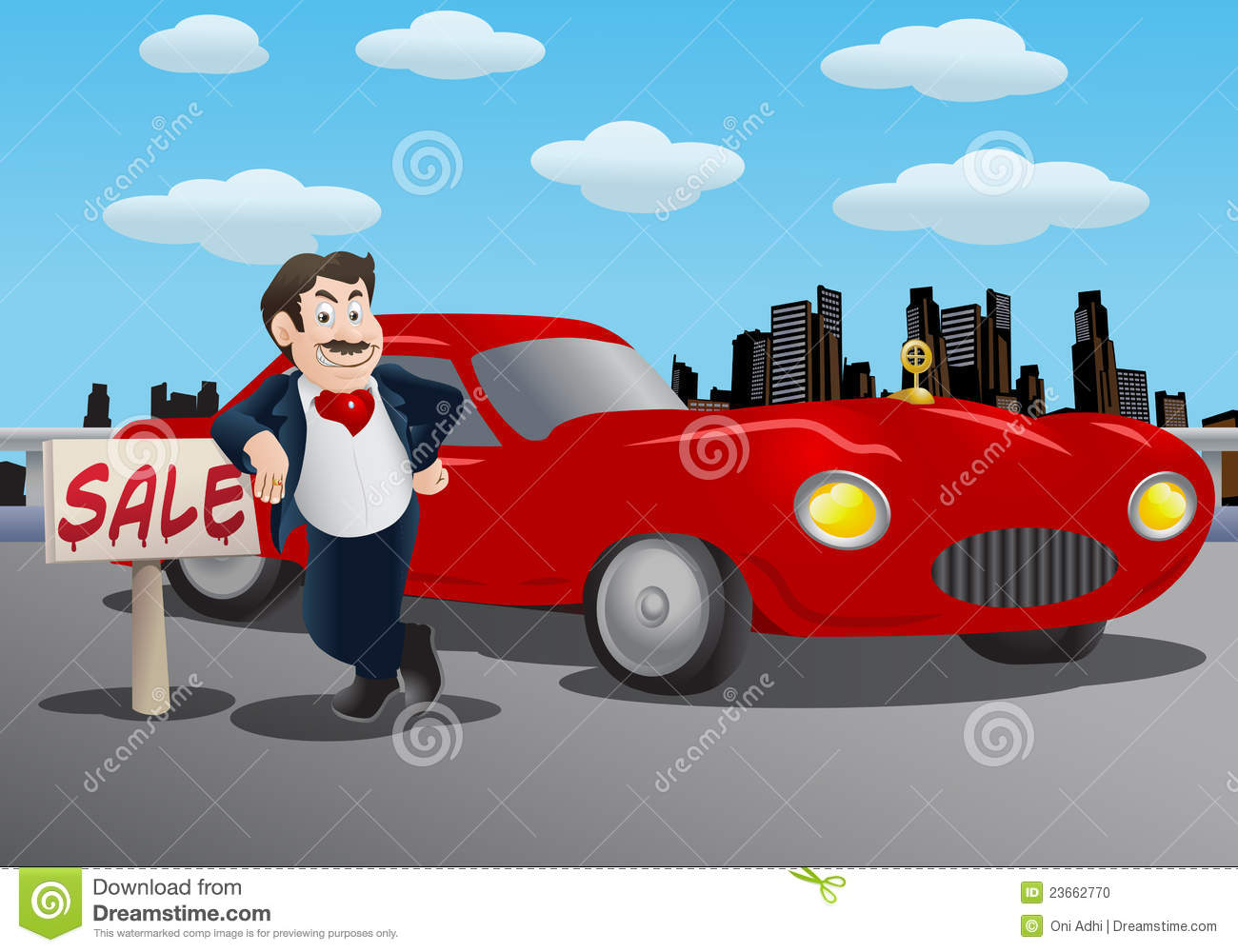 Car Sales Man Stock Photo Image 23662770