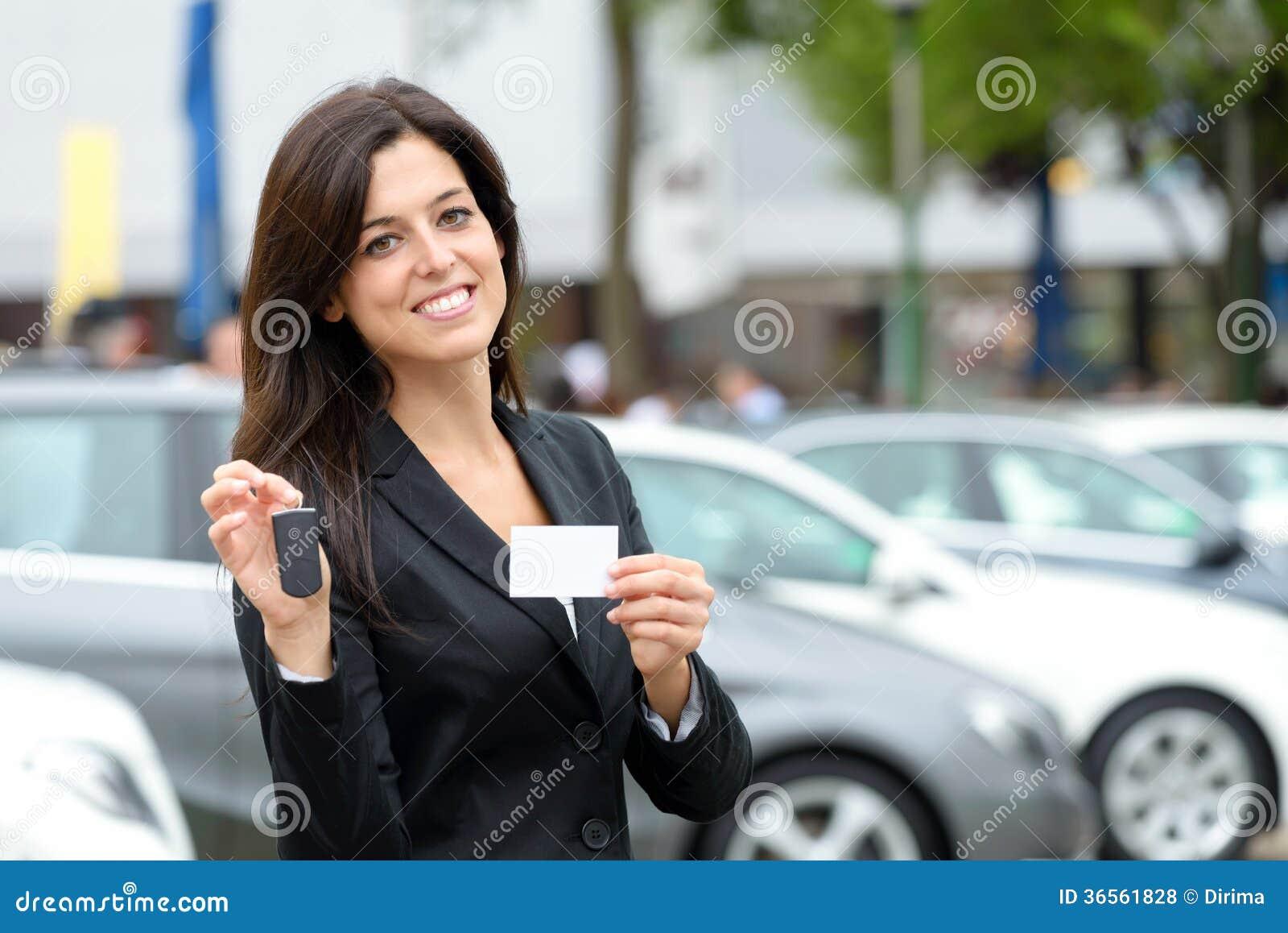 Female Car Sales Consultant