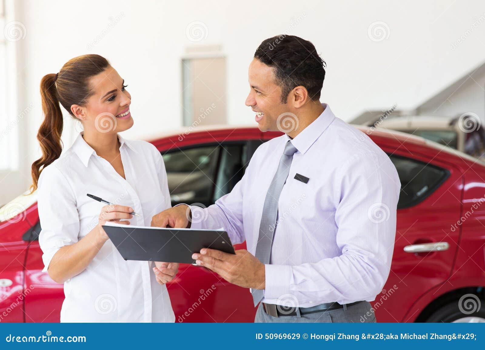 Car salesman customer
