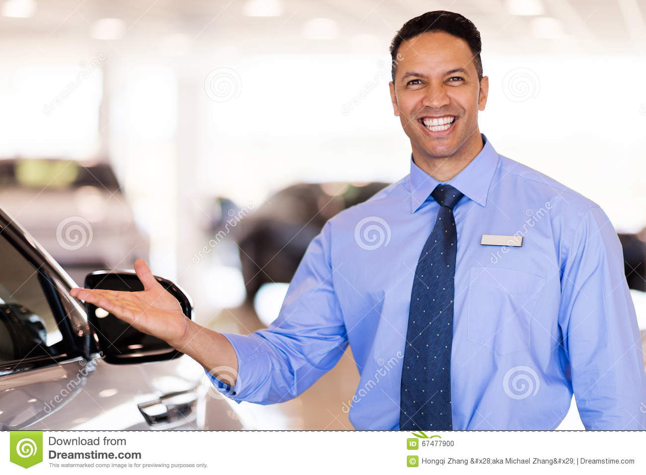 How To Be A Good Car Salesman >> Car Salesman Presenting Stock Photo Image Of Portrait 67477900