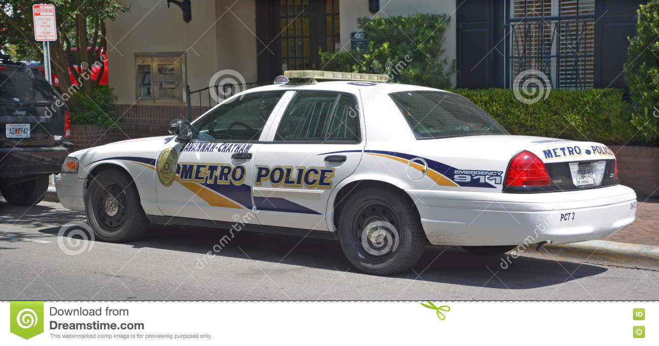 Georgia Georgian Police Stock Photos Georgia Georgian: Car Of Savannah-Chatham Metropolitan Police Department