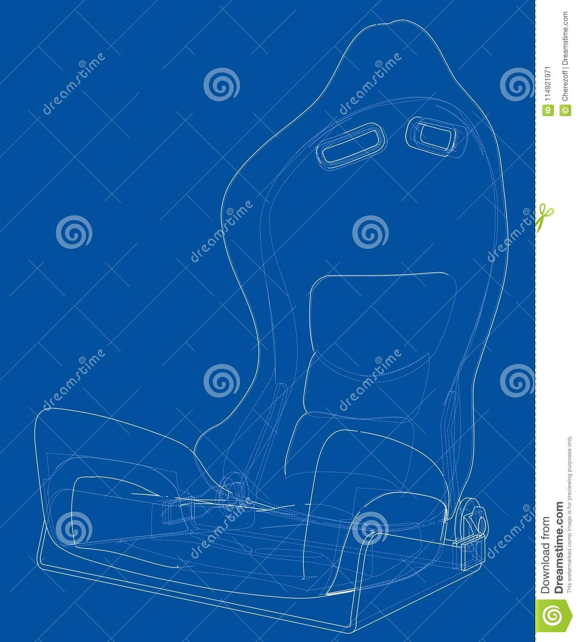 Car seat outlined vector rendering of 3d stock vector illustration download car seat outlined vector rendering of 3d stock vector illustration of accident blueprint malvernweather Images