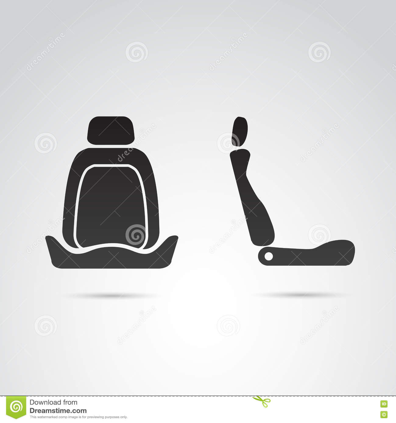 background car front icon isolated profile seat ...