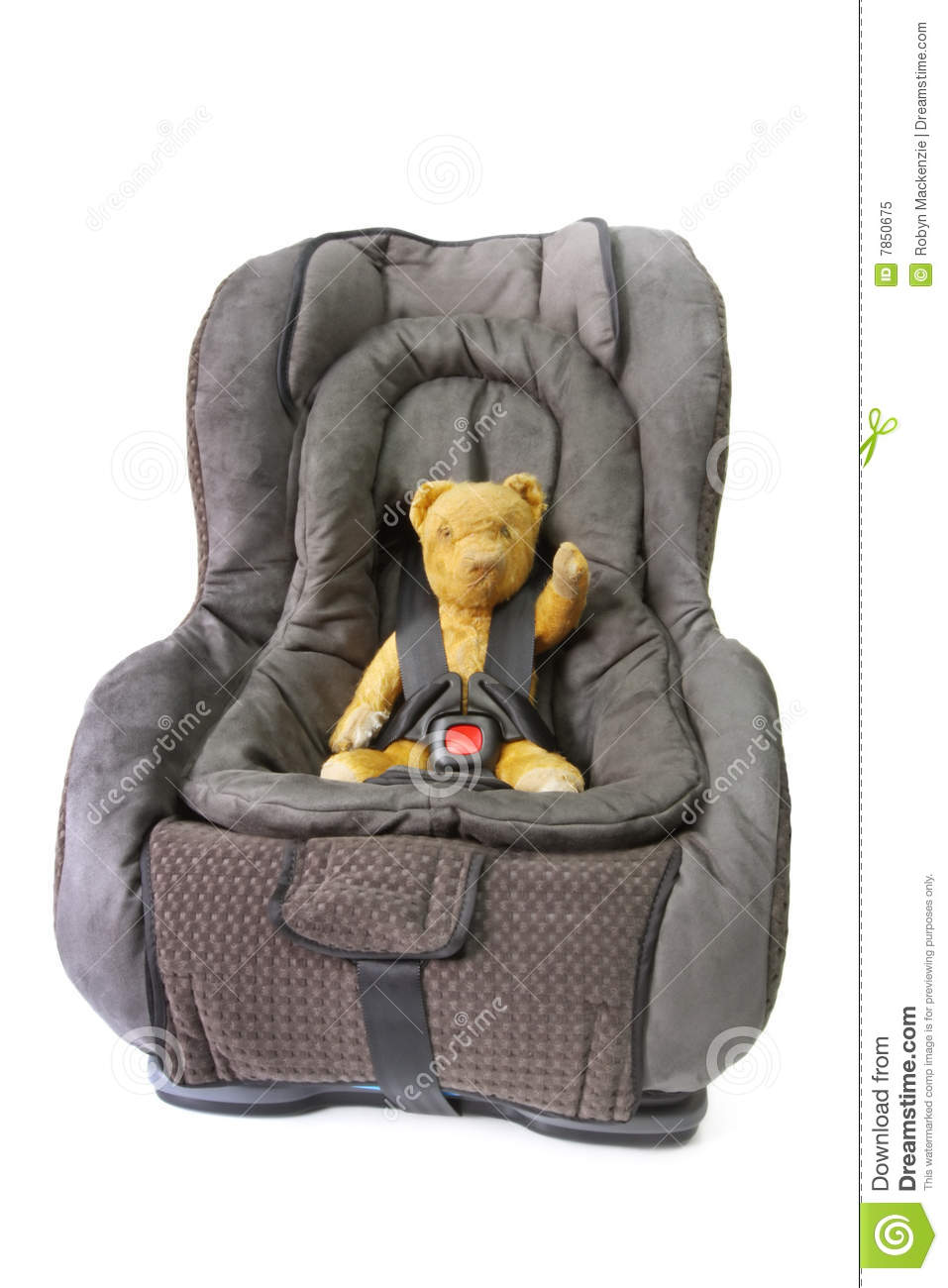 Car Seat With Teddy Royalty Free Stock Photo Image 7850675