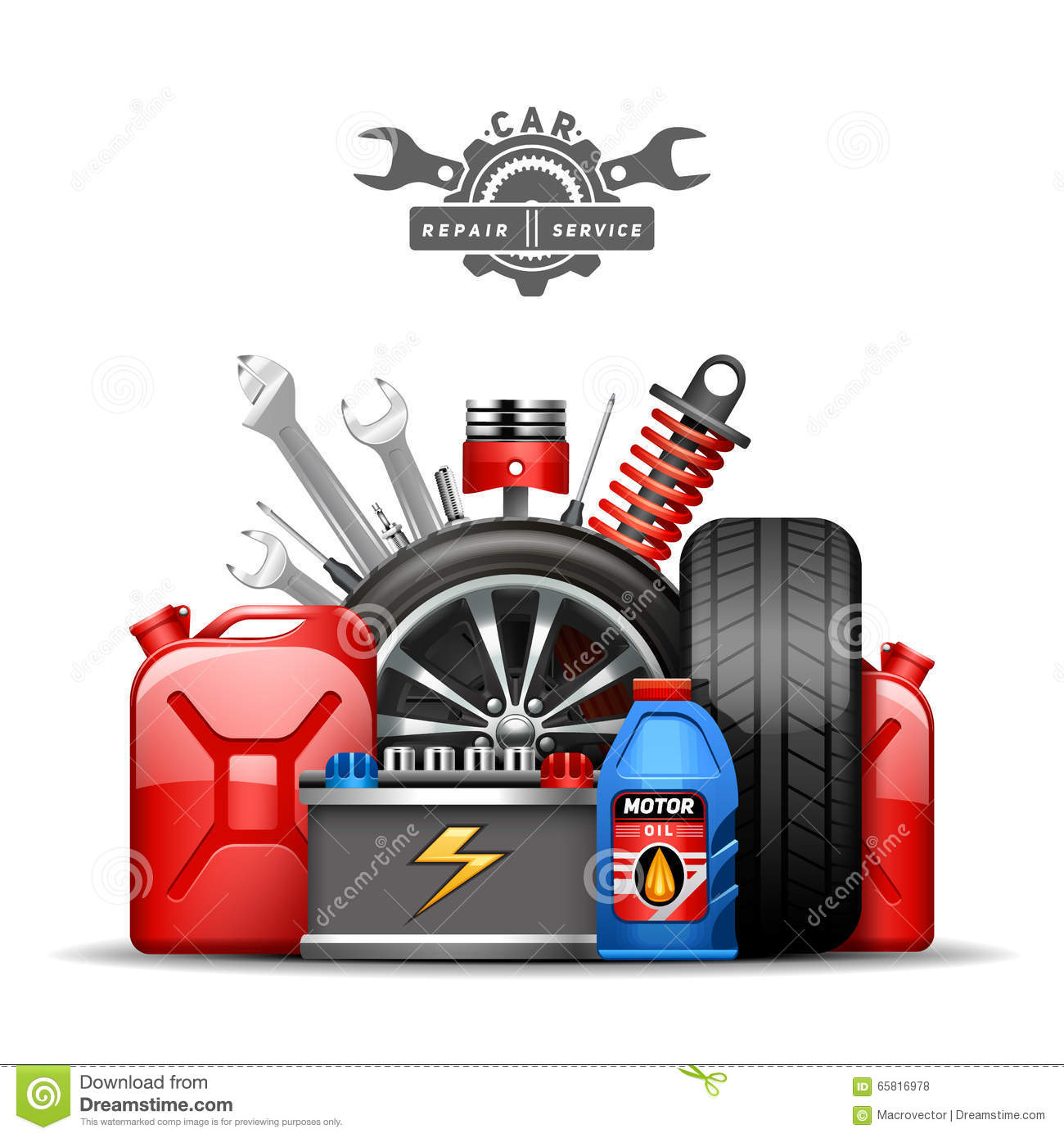Car Service Illustration Vector Illustration