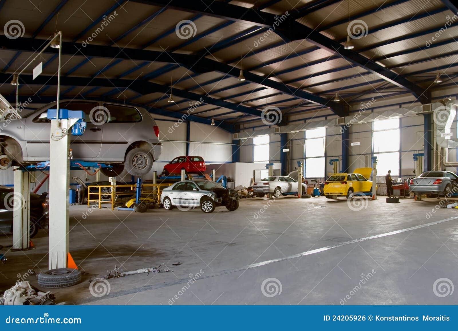 Car Service Garage Stock Photo Image Of Repairing Land