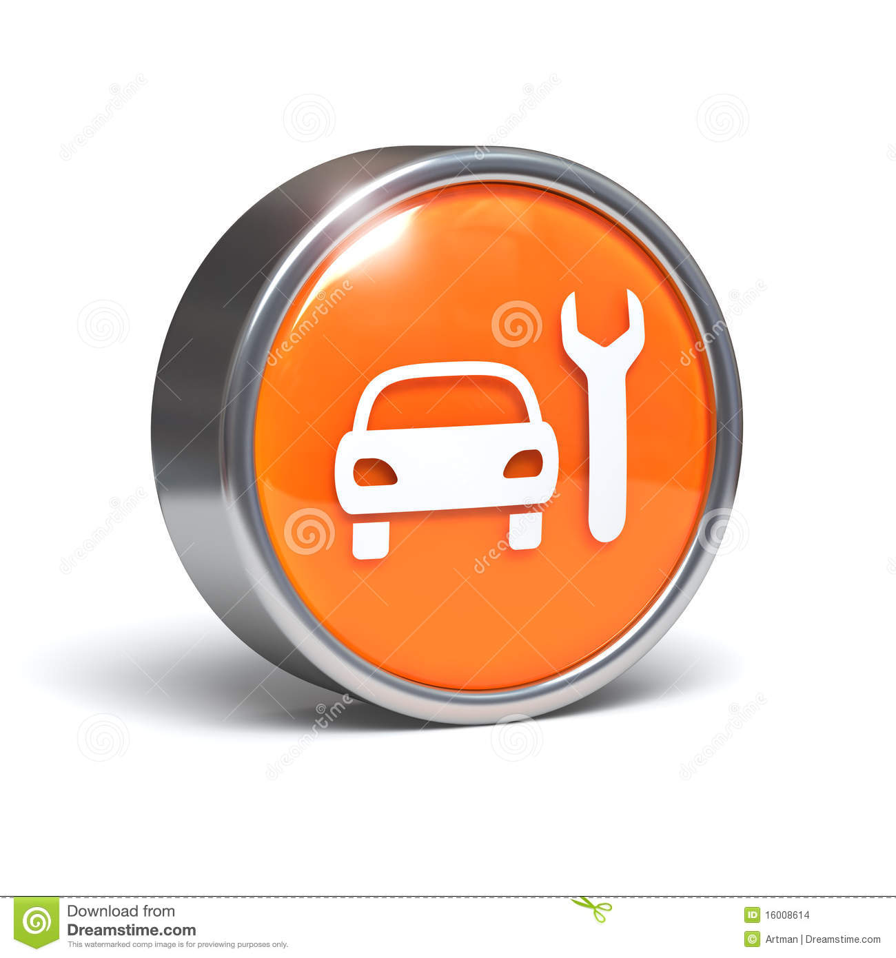 car service icon 3d button stock illustration illustration of diagnostics automotive 16008614. Black Bedroom Furniture Sets. Home Design Ideas
