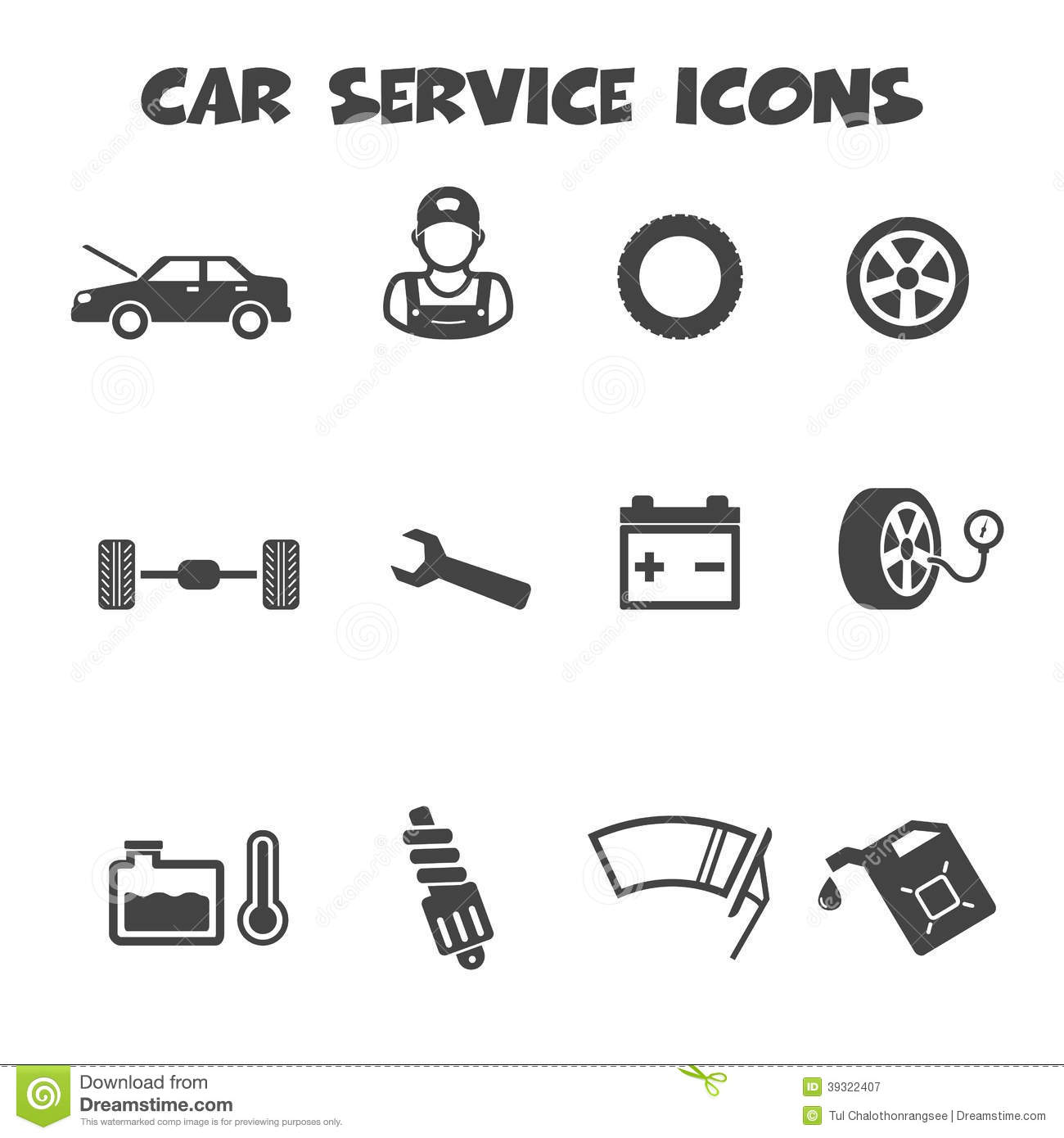 Car Service Icons Stock Vector Illustration Of Maintenance 39322407