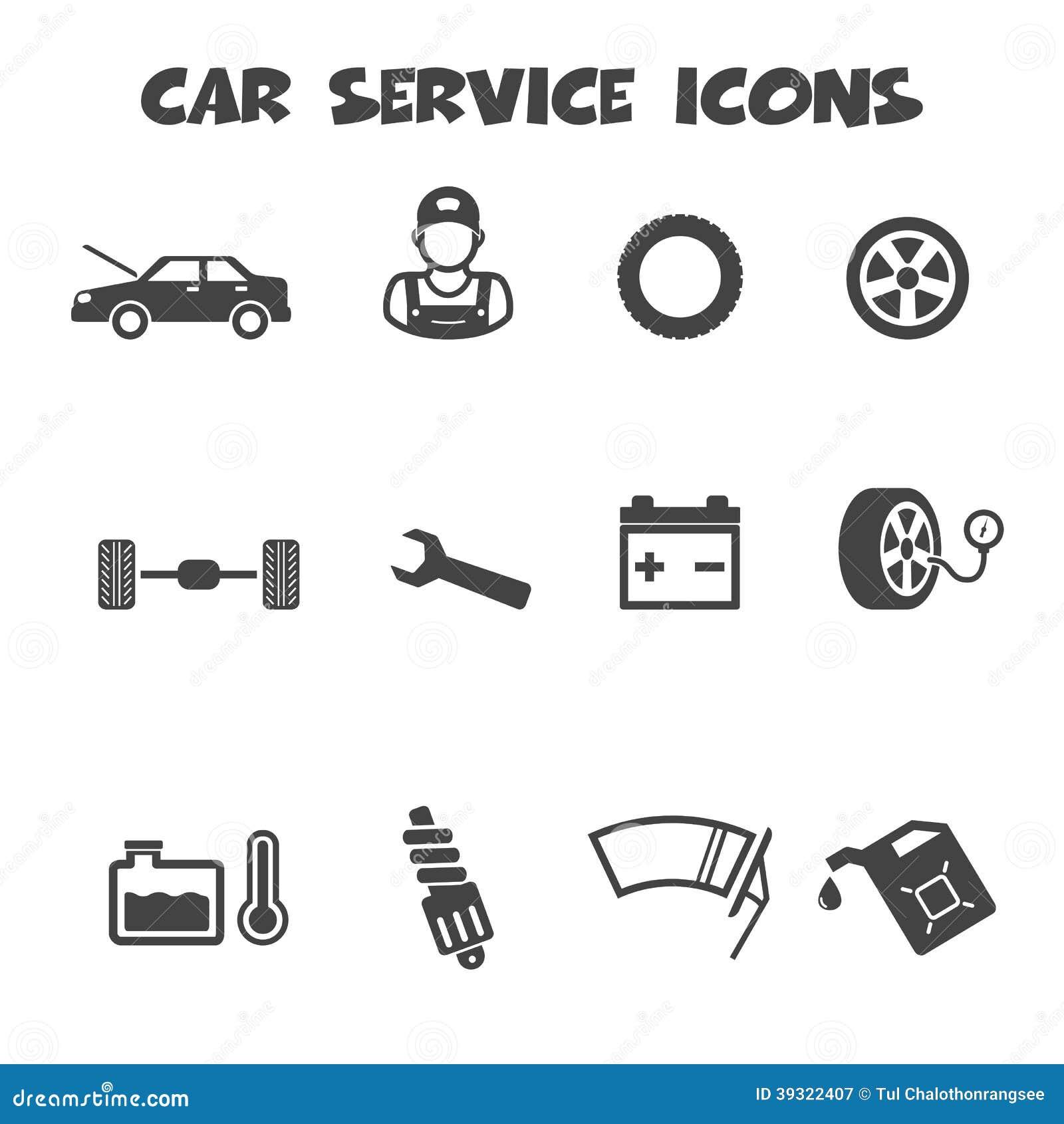 Car service icons stock vector illustration of maintenance 39322407 royalty free stock photo biocorpaavc Gallery