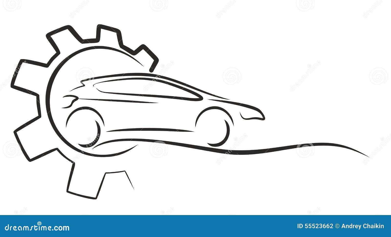car service logo vector illustration