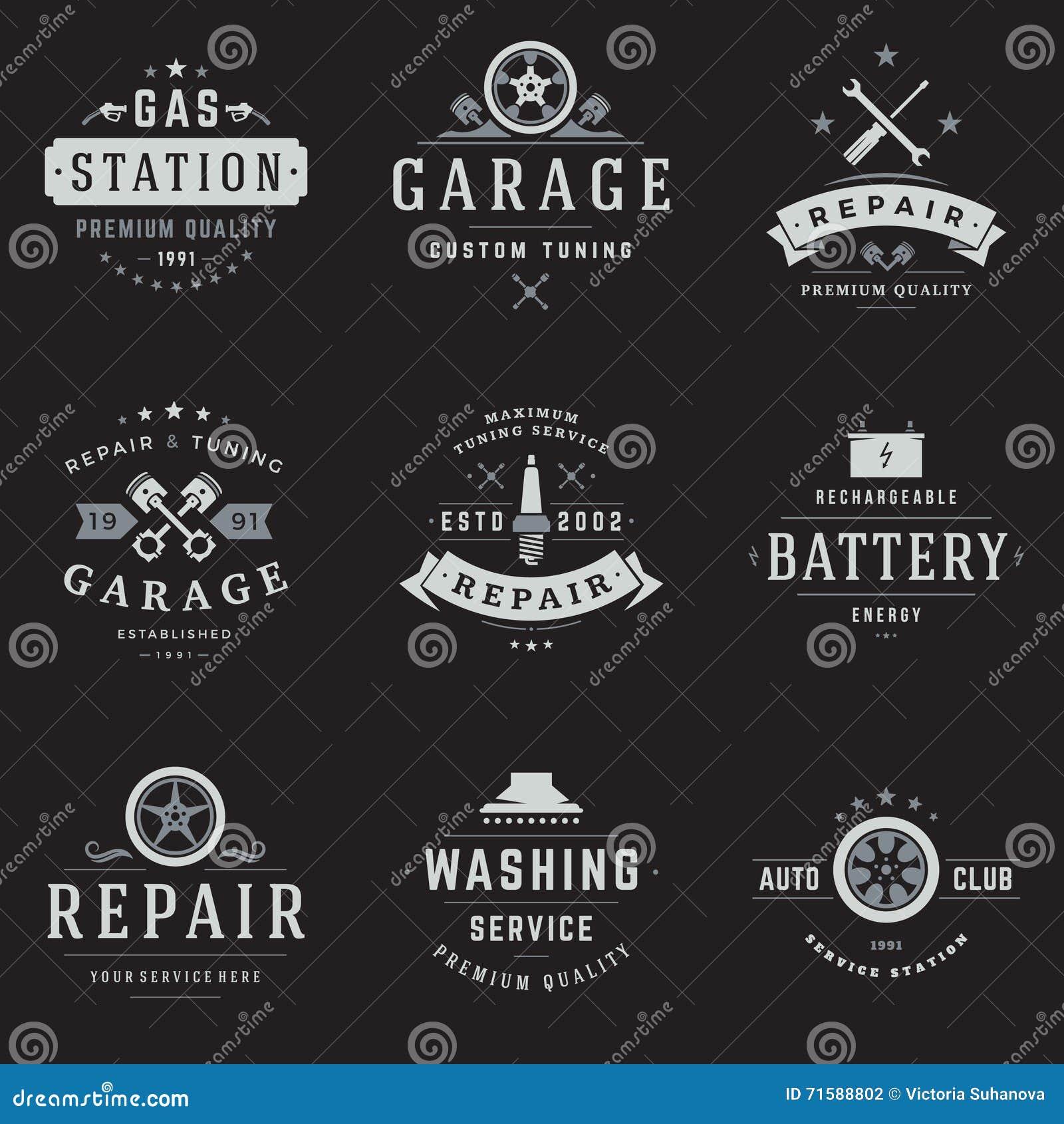 Design car club logo - Car Service Logos Templates Set Stock Vector