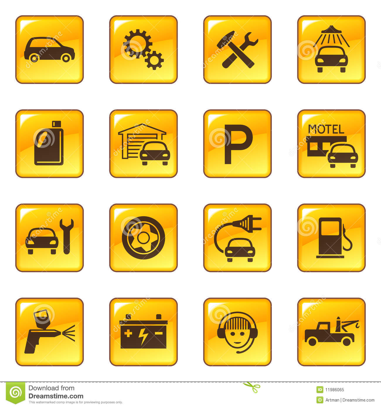 Car Service Amp Repair Icons Royalty Free Stock Photo
