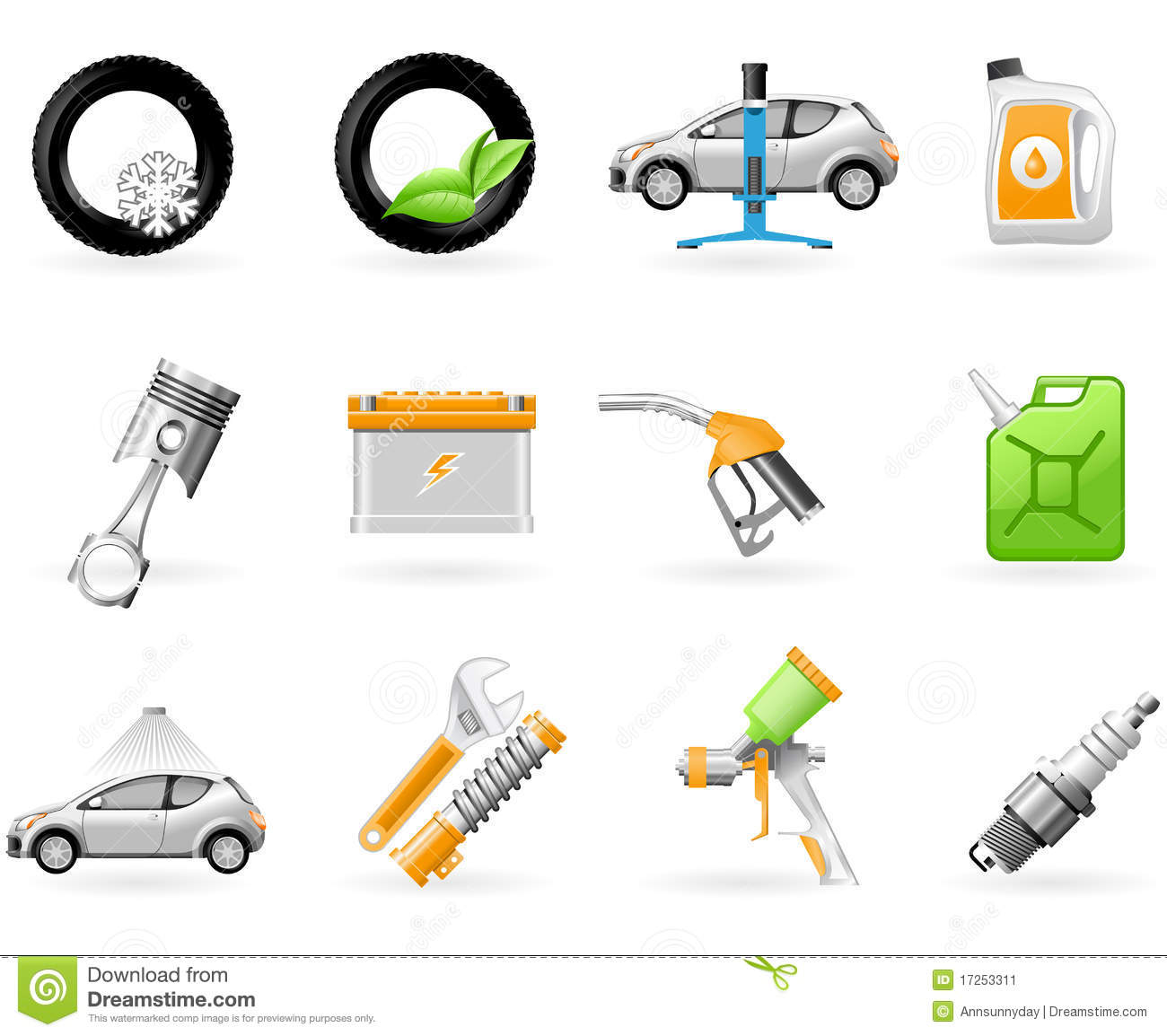 Car Service And Repairing Icon Set Stock Image Image
