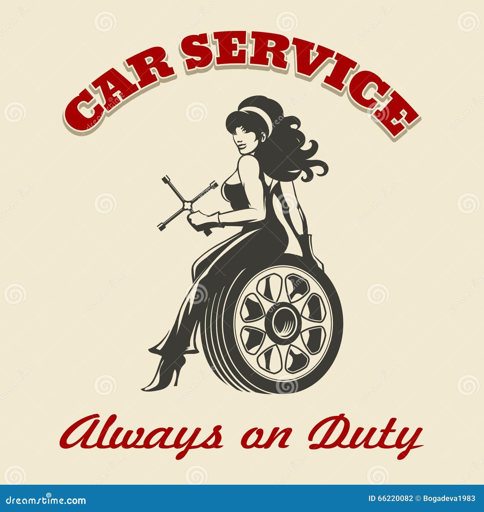 Cyber monday car service car service retro poster stock for Kewanee motor lodge kewanee il