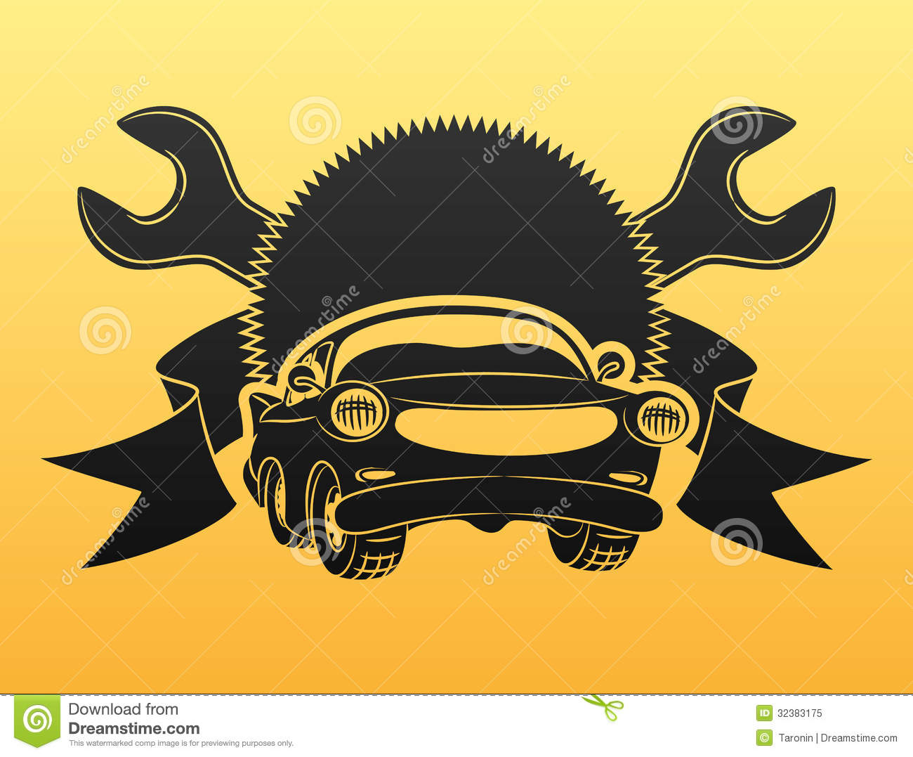 Car Service Sign Royalty Free Stock Photo Image 32383175