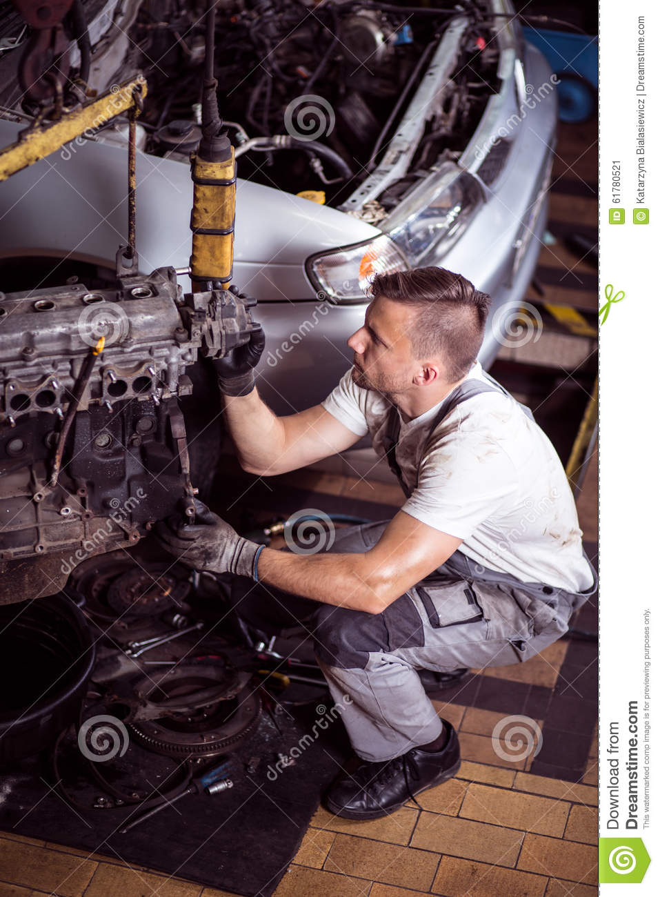 Car Service Station Stock Image Image Of Operating