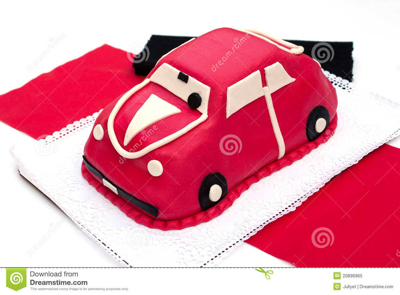 Car-shaped Marzipan Cake Royalty Free Stock Photo - Image ...
