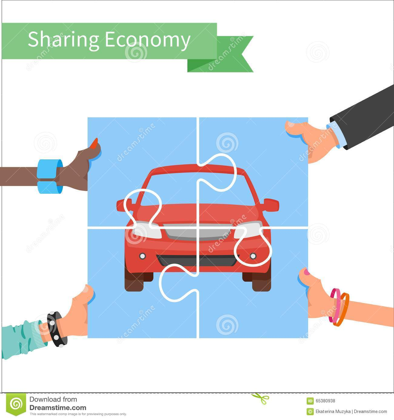 Car share concept. Sharing economy and