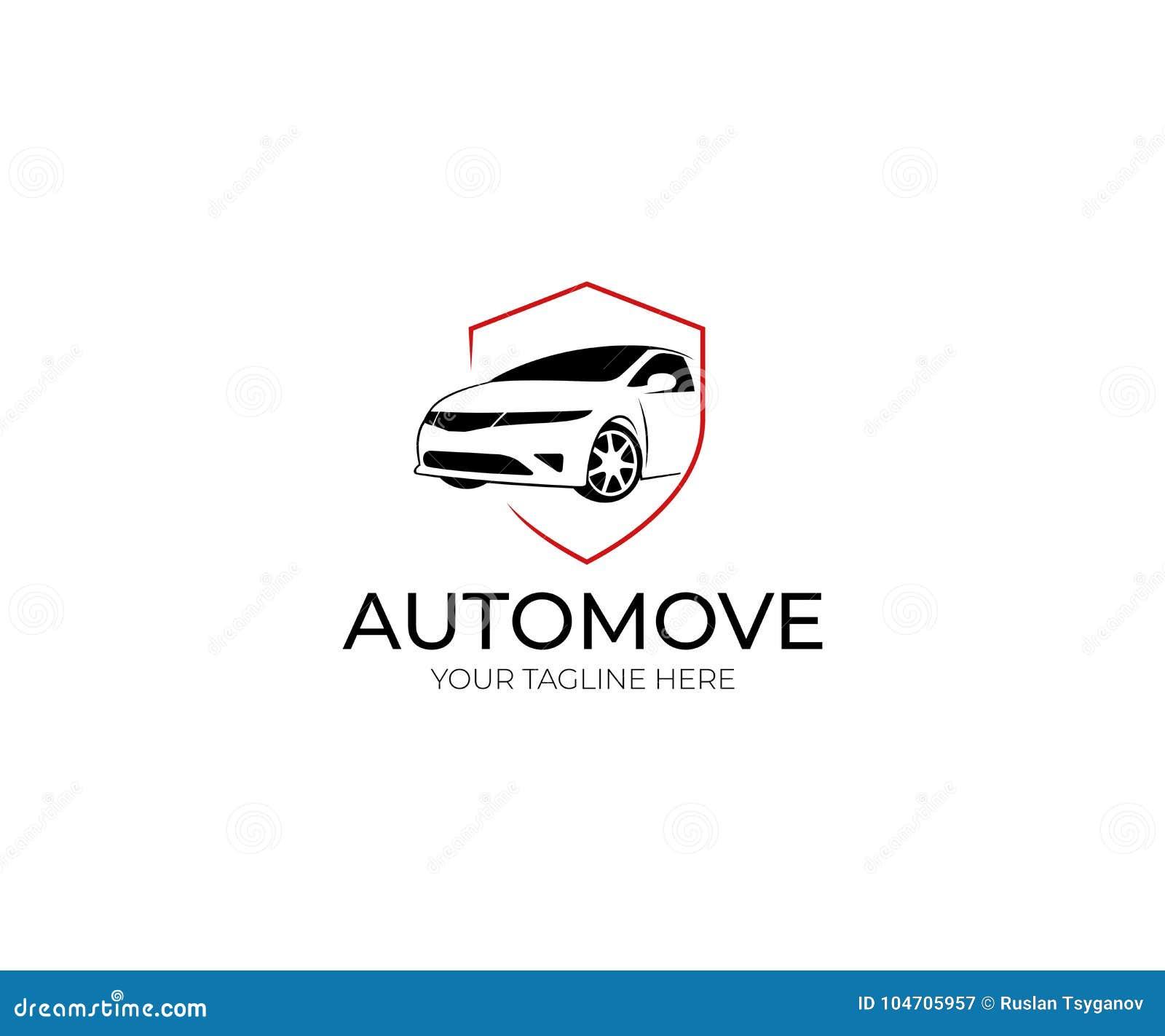 Car And Shield Logo Template. Automobile Vector Design Stock Vector ...