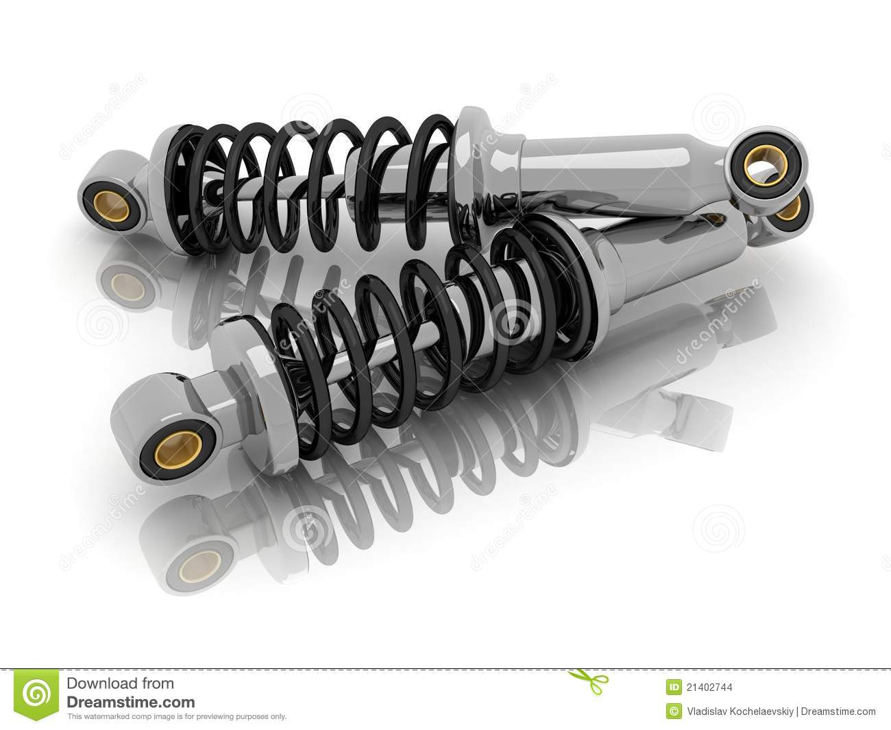 Car shock absorber stock illustration illustration of for Auto onderdelen interieur