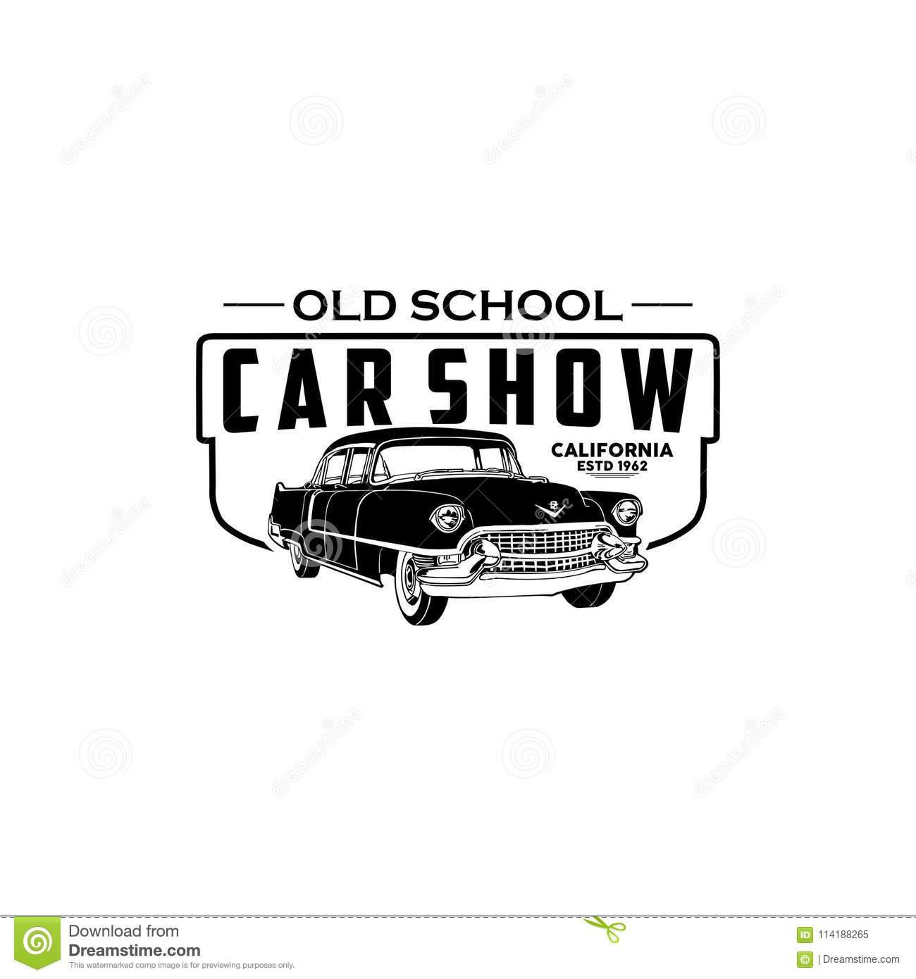 Car Show California Logo Vector Stock Vector Illustration Of - Classic car show california