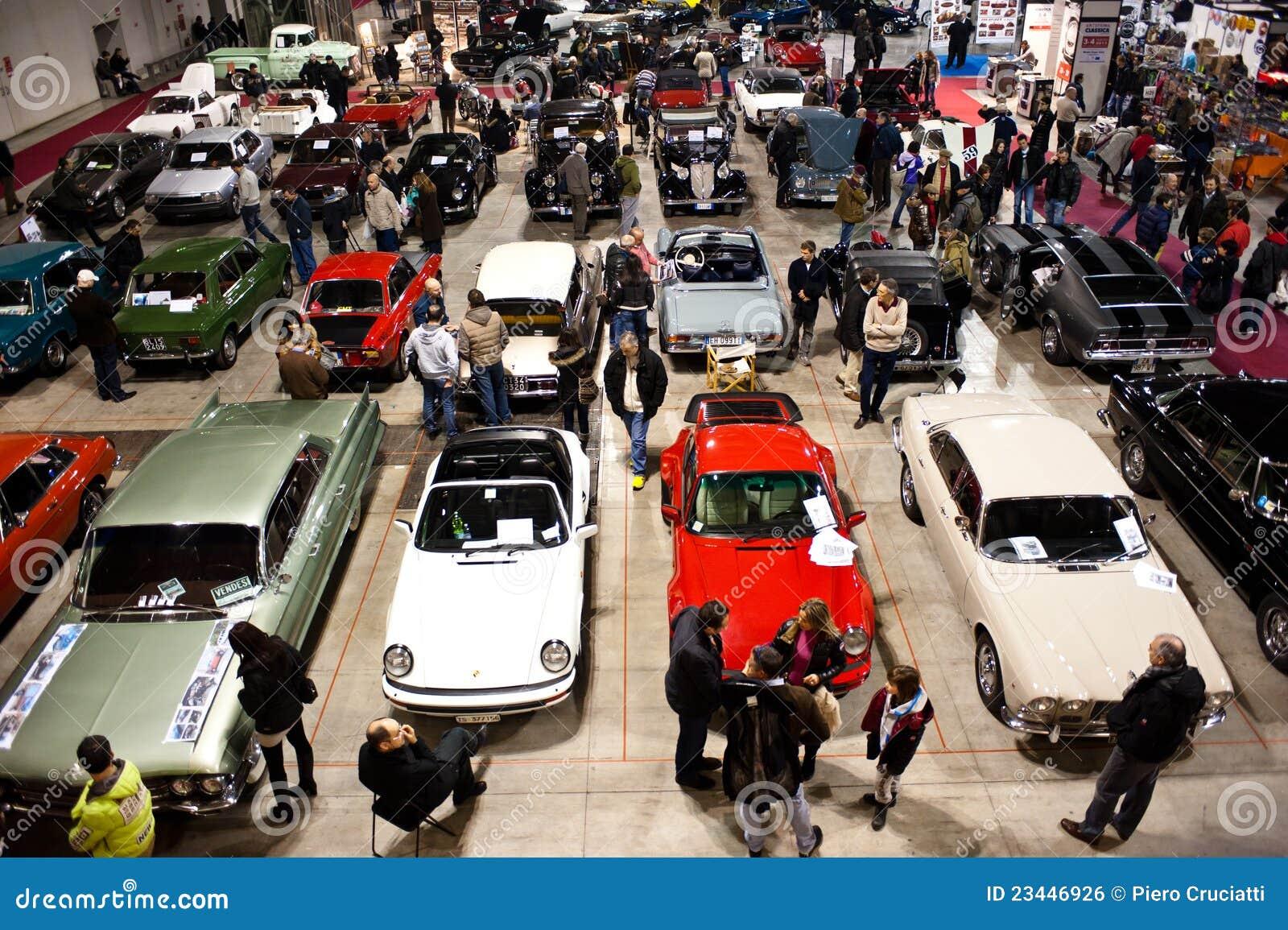 Car Show classico, vista panoramica