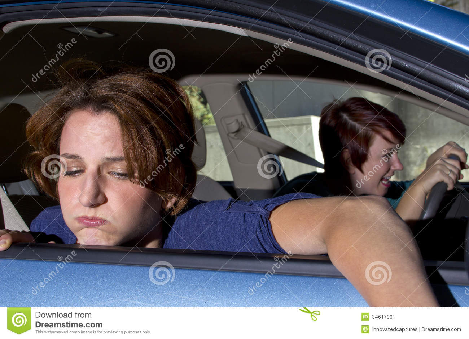 Car Sick Stock Image