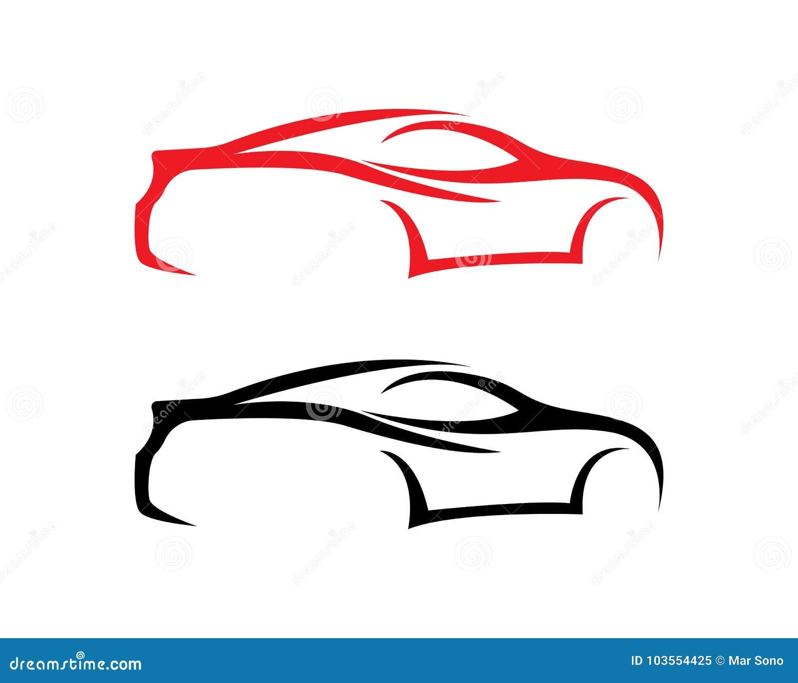 Car Silhouette Logo Vector Template Icons App Stock Vector