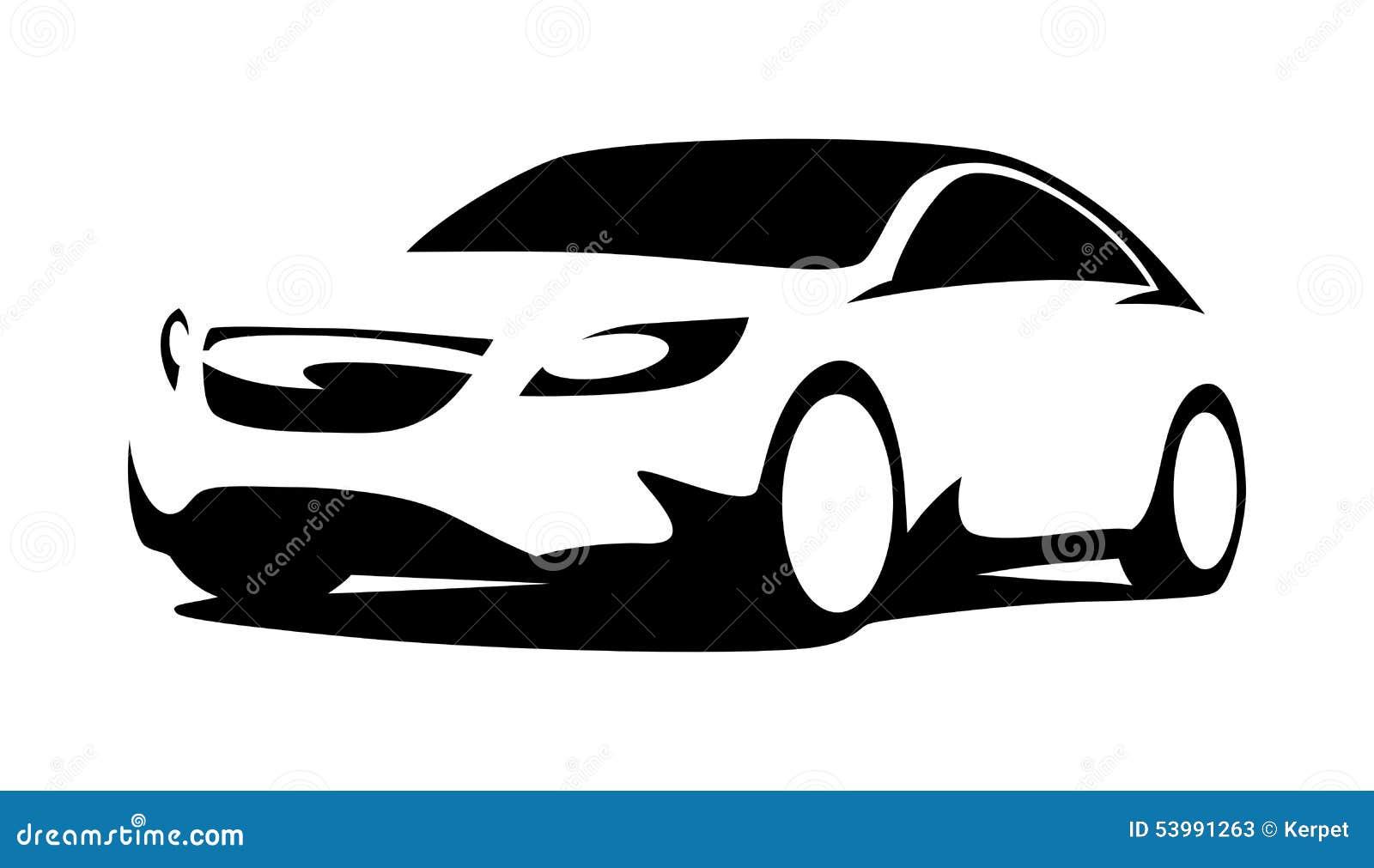 Car Silhouette Modern Stock Vector Illustration Of