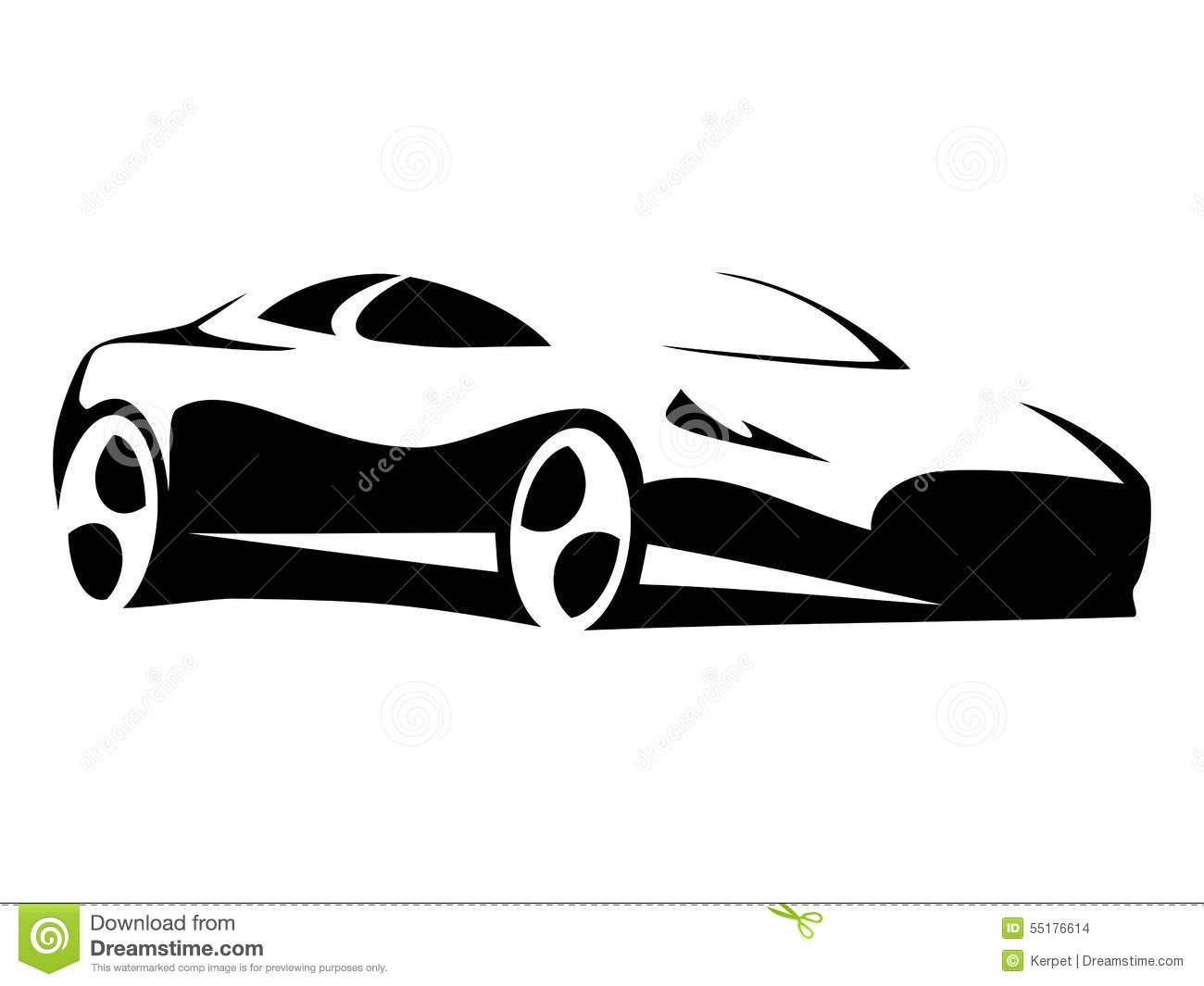 Sports car silhouette vector 8