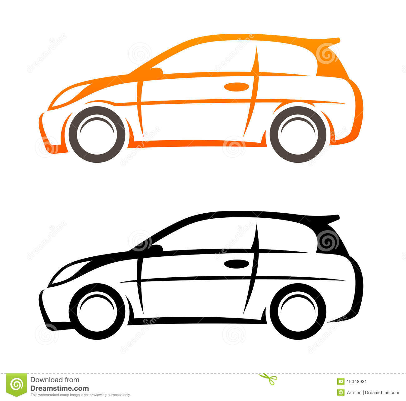 Car Vector Icon Car sketch Vector icon