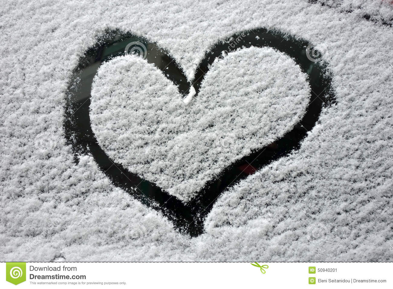 Car Snow Heart Stock Image Image Of Empty Fresh Clear 50940201