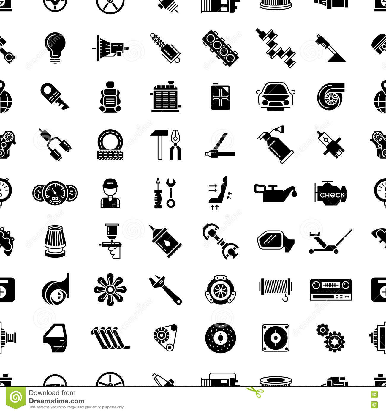 auto service or car repair seamless pattern vector illustration