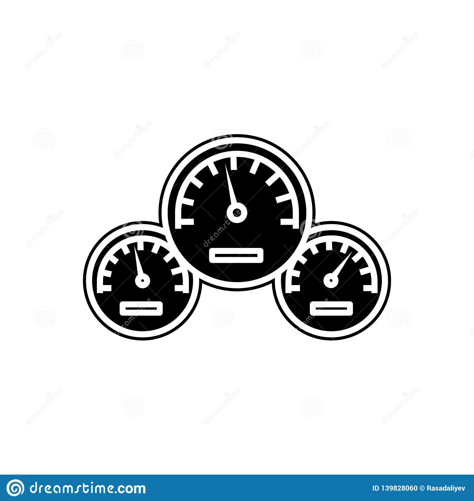 Car Speedometer Icon  Element Of Cars Service And Repair