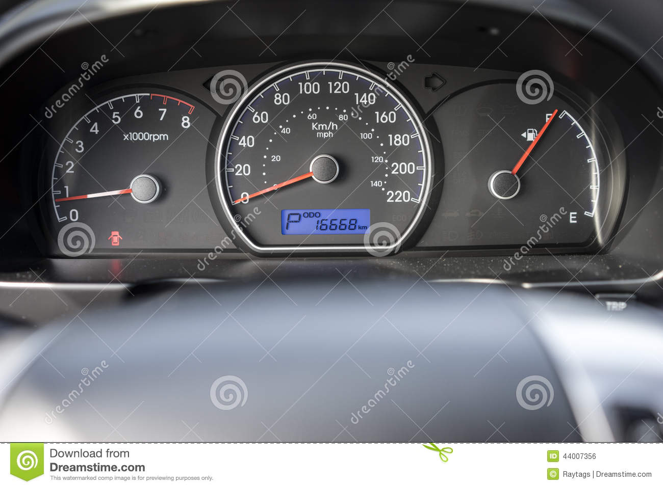 Car speedometer stock photo. Image of view, indication ...