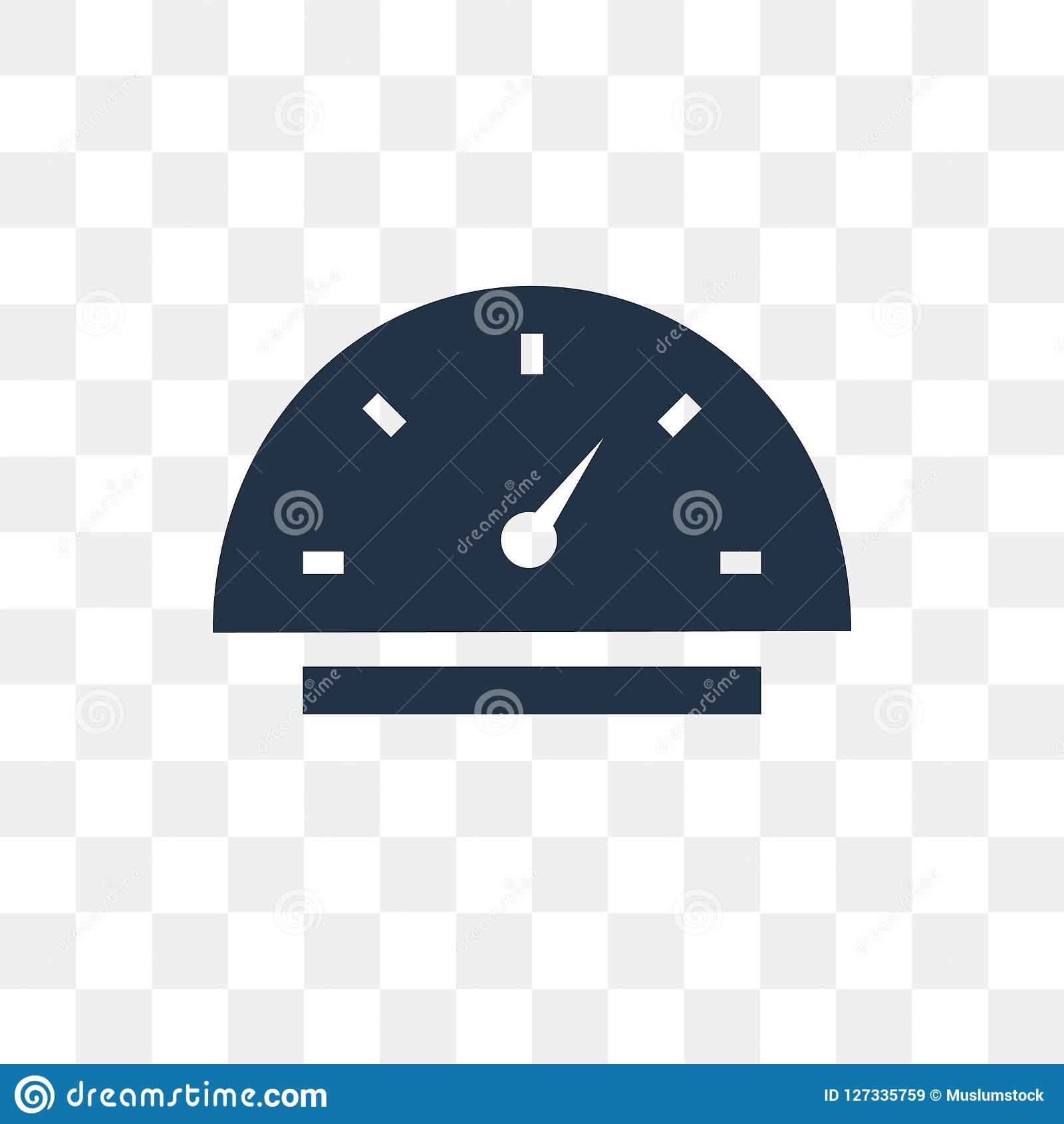 Car Speedometer Vector Icon Isolated On Transparent