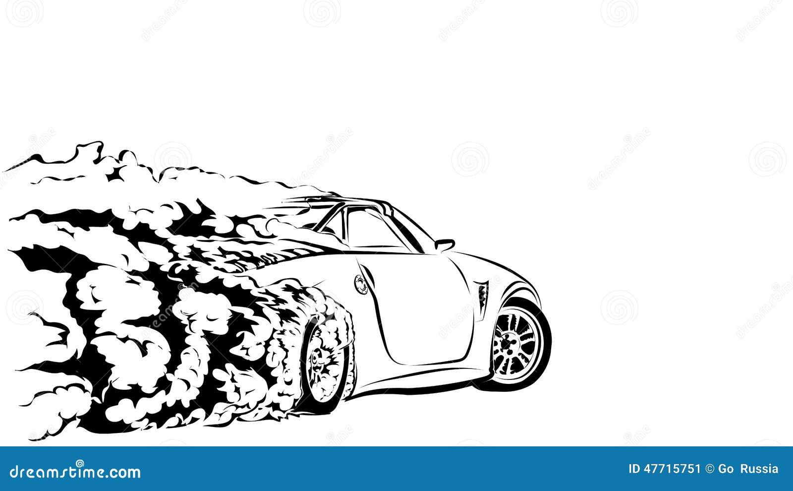 car sport drift stock vector  image of sticker  drift