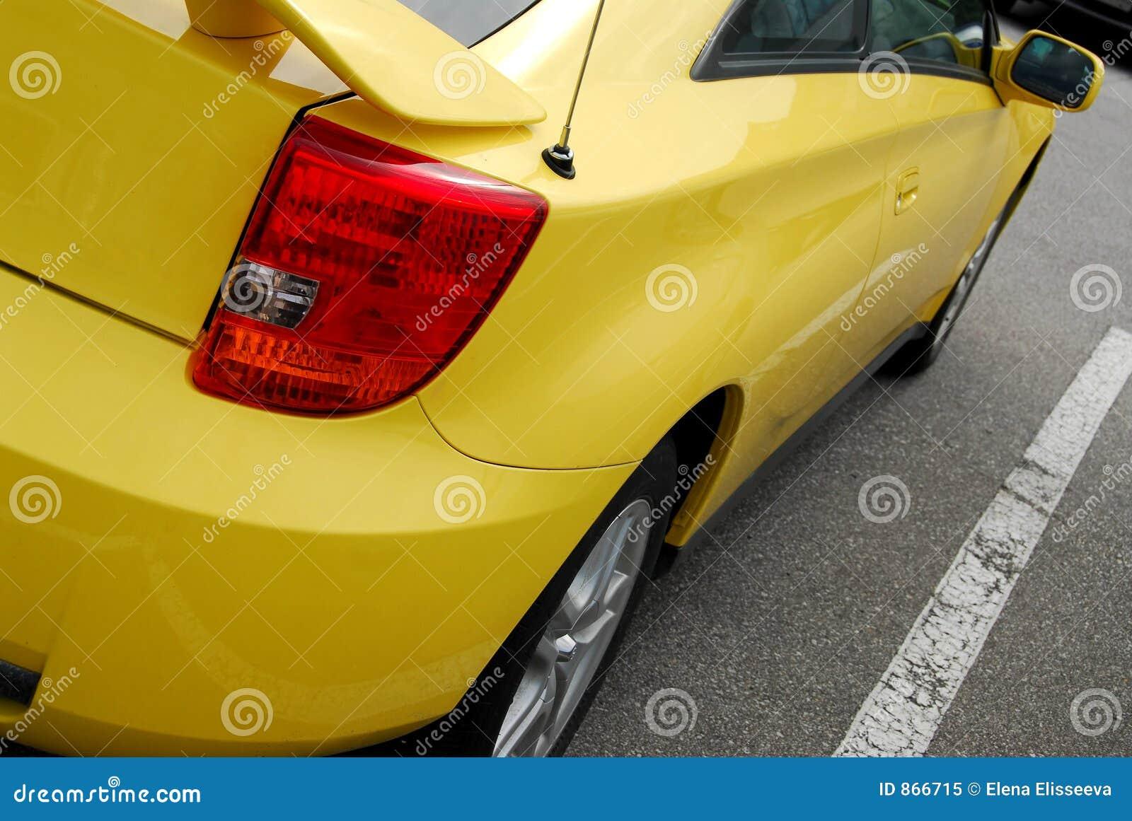 Car sports yellow