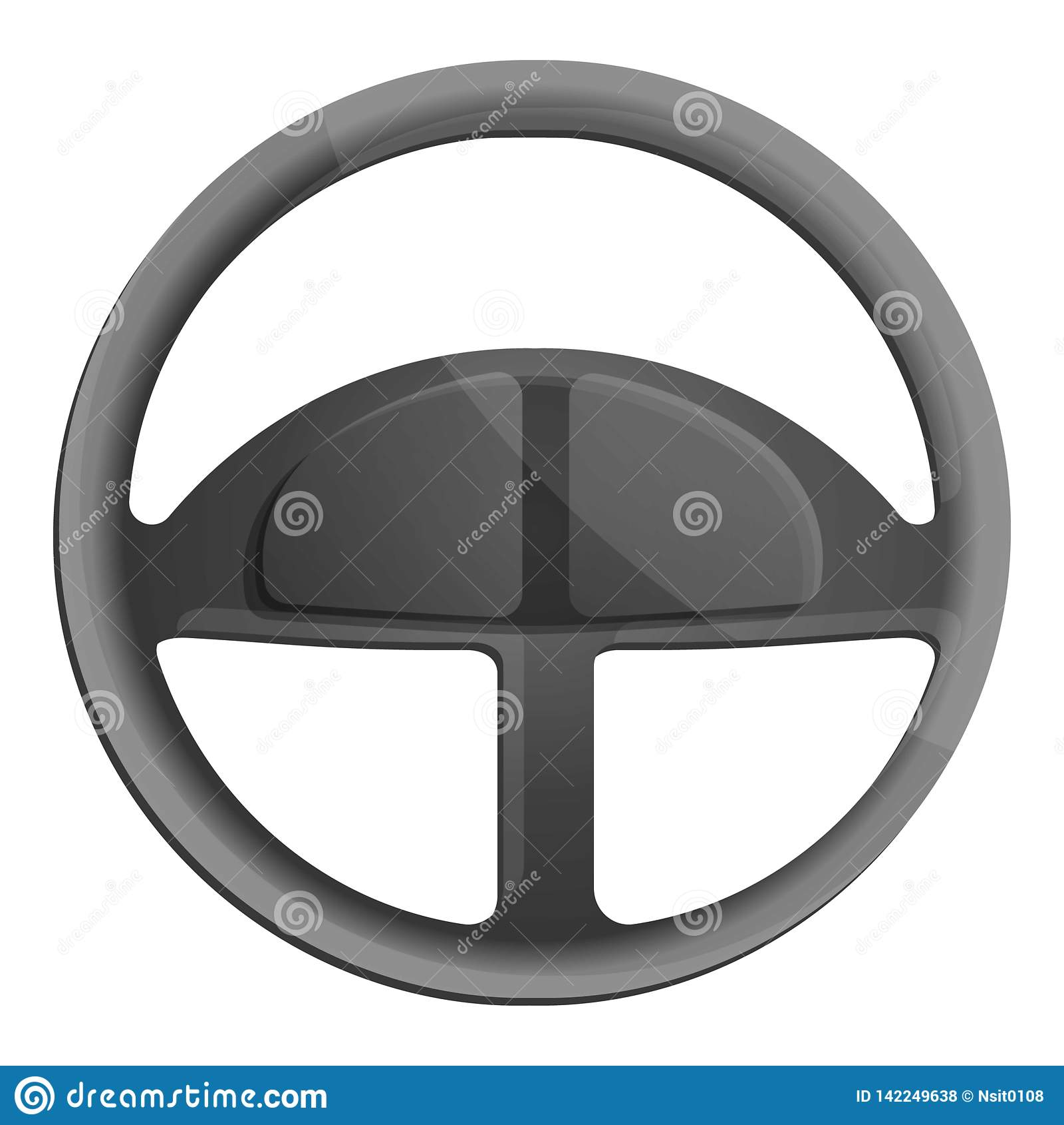 Car Steering Wheel Icon Cartoon Style Stock Vector Illustration Of Simplicity Logo 142249638