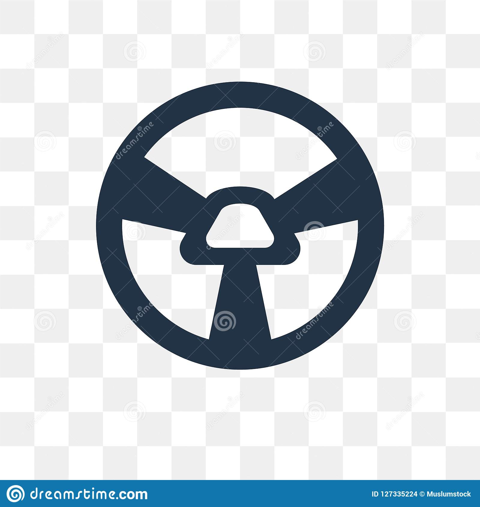 Car Steering Wheel vector icon isolated on transparent background, Car Steering Wheel transparency concept can be used web and m
