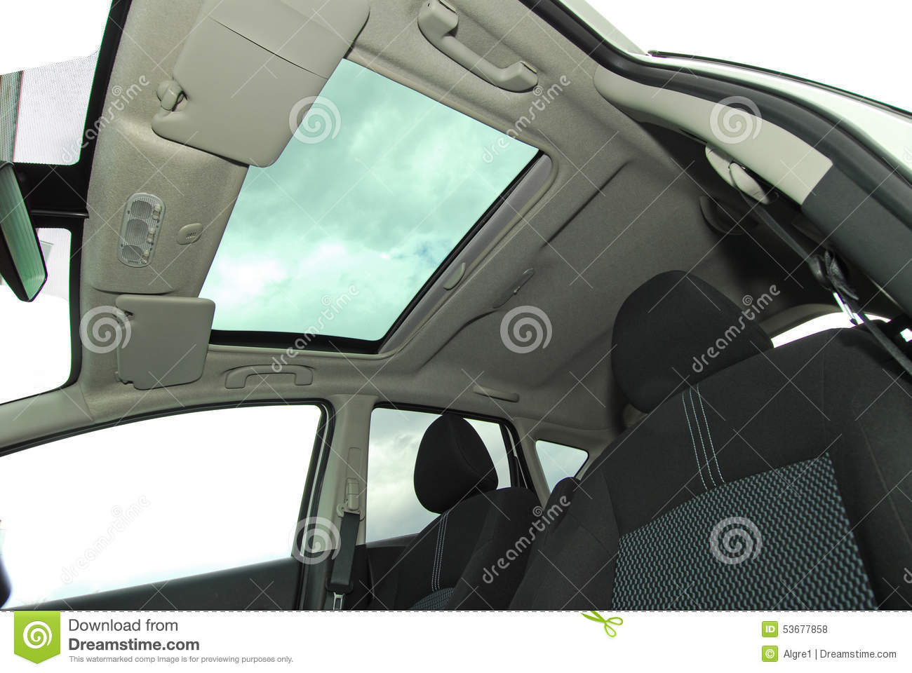 car sunroof stock photo image of clean vehicle weather 53677858. Black Bedroom Furniture Sets. Home Design Ideas