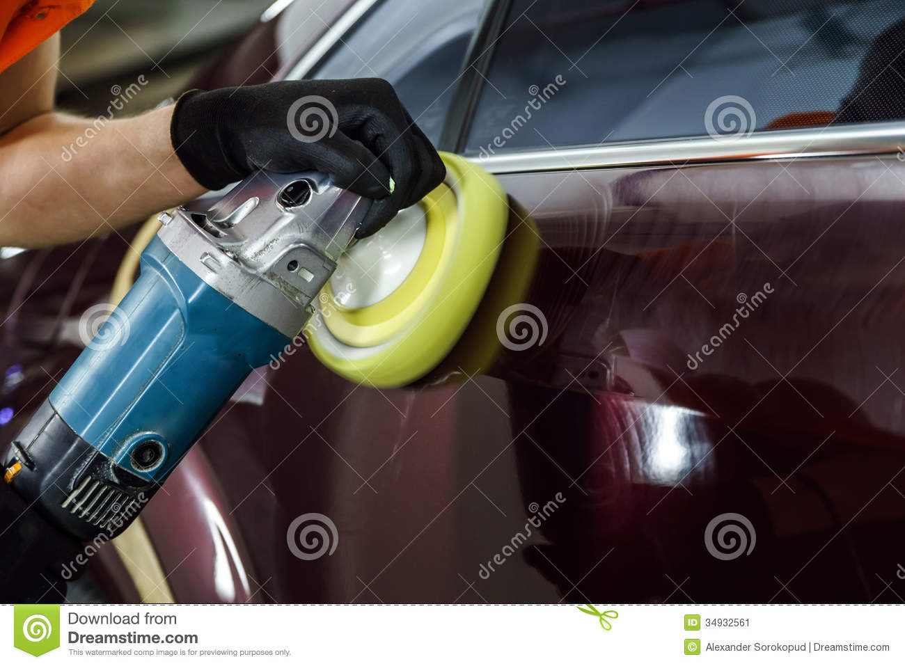 car surface buffing stock image image of hand metallic 34932561. Black Bedroom Furniture Sets. Home Design Ideas