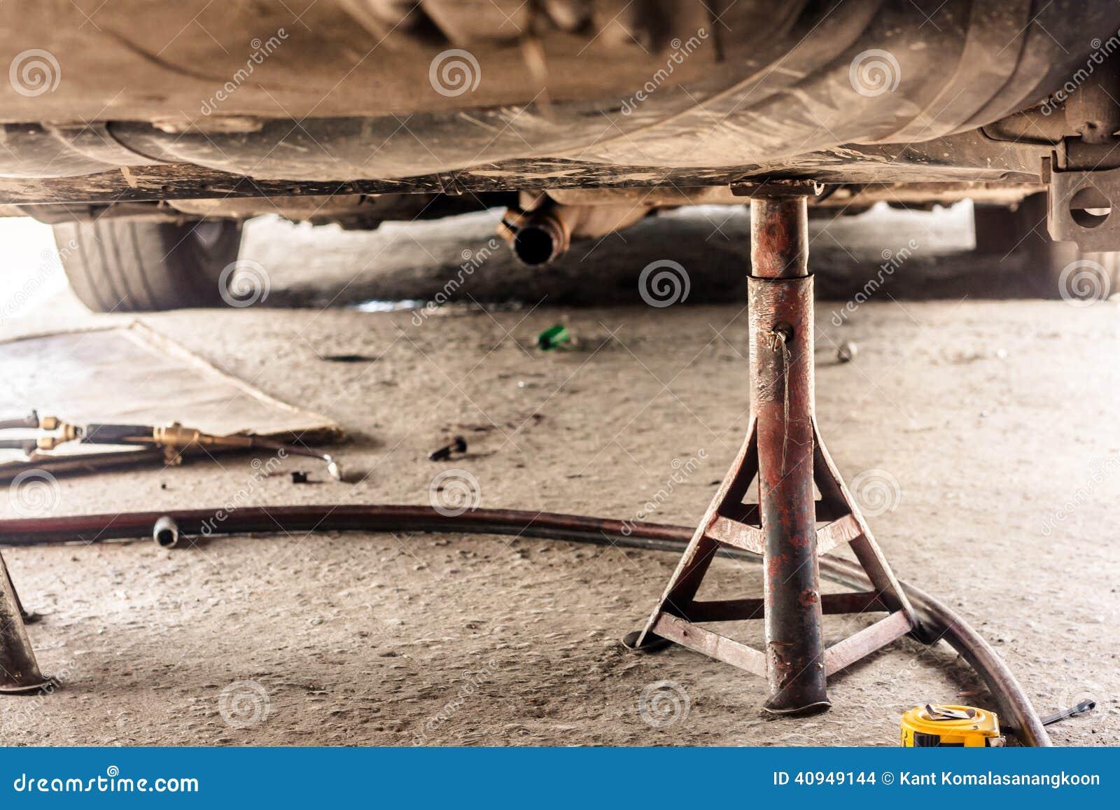 Car Suspension Maintenance Stock Photo Image 40949144