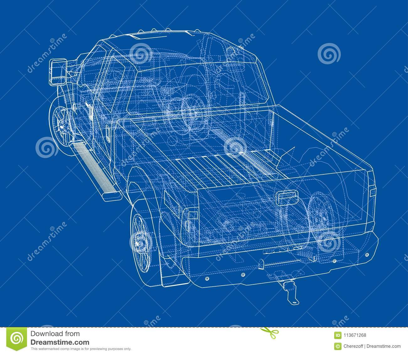 Car SUV drawing outline stock illustration. Illustration of simple ...